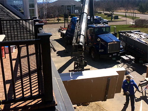 Sheetrock for garage addition being delivered - South Burlington, VT