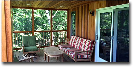 Porches, Front Porches, Screened Porch, 3 Season Porches custom built in Vermont